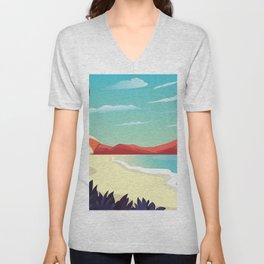 Canyon Beach Sunset Unisex V-Neck