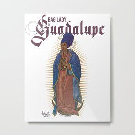 Bag Lady of Guadalupe Metal Print