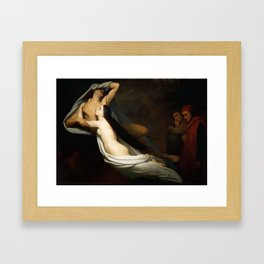 The Ghosts of Paolo and Francesca Appear to Dante and Virgil Framed Art Print