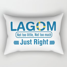 Lagom - Not too little, No too much (Just Right) Rectangular Pillow