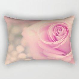 Vintage roses flowers floral - Pink rose flower bunch Rectangular Pillow