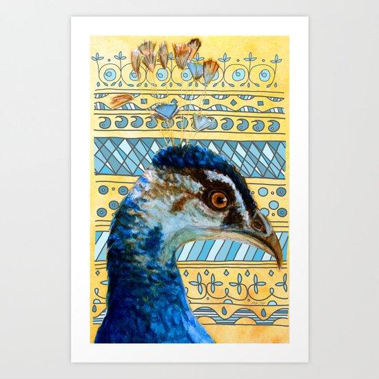 Peafowl 721 - 002 Art Print
