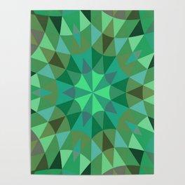 Green Retro Geometry Poster