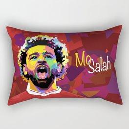 Mo Salah WPAP Rectangular Pillow