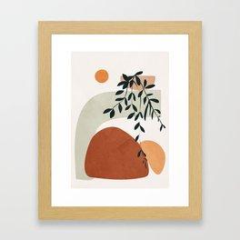 Soft Shapes I Framed Art Print