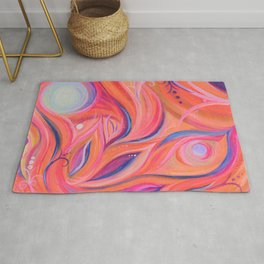 Step into my Vibrant World Rug