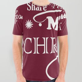 The Wishing Christmas Tree All Over Graphic Tee