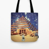 pyramid Tote Bags featuring Pyramid by Cs025