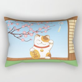Maneki Neko Rectangular Pillow