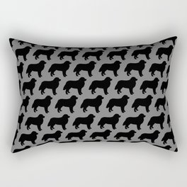 Bernese Mountain Dog Silhouette(s) Rectangular Pillow