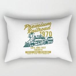 premium railroad Rectangular Pillow