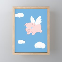 Flying Pig Framed Mini Art Print