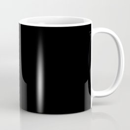 Black Minimalist Coffee Mug