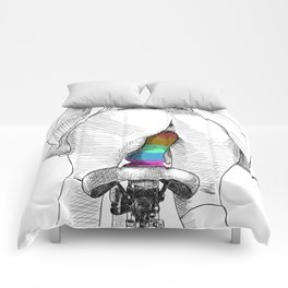 bicycle ride Comforters