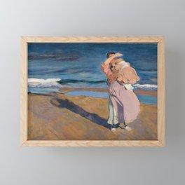 Fisherwomen with her son, Joaquín Sorolla, 1908 Framed Mini Art Print
