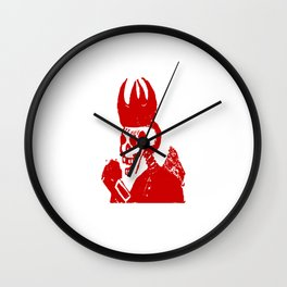 Skeleton King Wall Clock