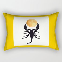 A Scorpion With The Moon In The Frame #decor #homedecor #buyart #pivivikstrm Rectangular Pillow