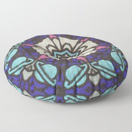 Saturn in Teal Leather - Photo of Leather, Suede and Krafttech Art Floor Pillow