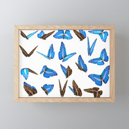 Blue Butterflies Framed Mini Art Print