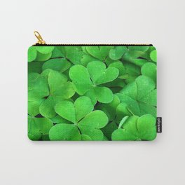Lucky Four Leaf Clover Carry-All Pouch