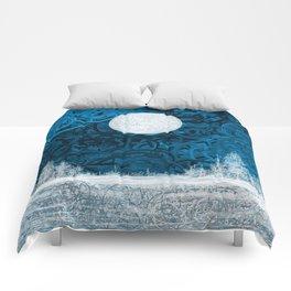 Full moon night Comforters