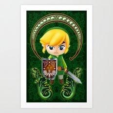 Cute Link Egg Head Art Print