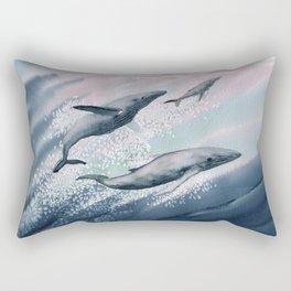Whale Watercolor 2 Rectangular Pillow