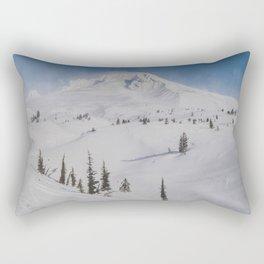 Snowy Mount Hood Rectangular Pillow