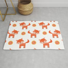 Orange Fox Rug