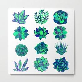 Succulents Art Metal Print