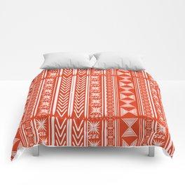 Boho Mud Cloth (Coral) Comforters