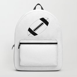 American Football In Black And White Backpack