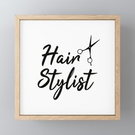 Hairstylist Framed Mini Art Print