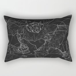 Bat Attack Rectangular Pillow