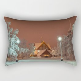 Kiruna Church In the Winter Snow Rectangular Pillow