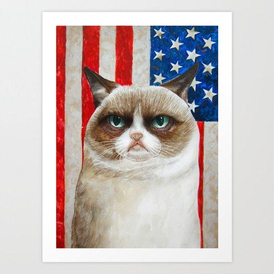 Born to be Grumpy Art Print