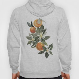 oranges and flowers Hoody