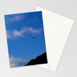 Bird in the sky above mountains Stationery Cards