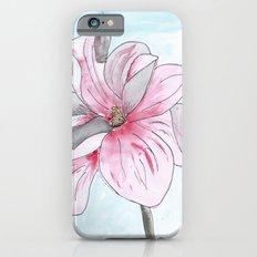 Magnolia Flower watercolor iPhone 6s Slim Case
