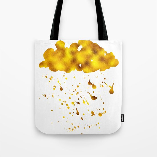 Gold Clouds Poison Rain Tote Bag