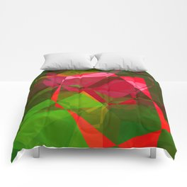 Pink Roses in Anzures 3 Abstract Polygons 2 Comforters