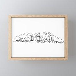 El Paso Skyline Drawing Framed Mini Art Print