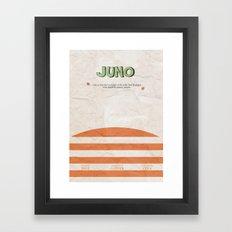 Juno - Alternative Movie Poster, classic movie, funny movie, minimal movie poster Framed Art Print