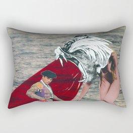 Against the bull fighter Rectangular Pillow
