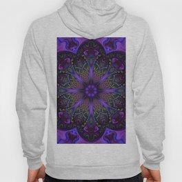 Psychedelic Purple Fractal Mandala Hoody