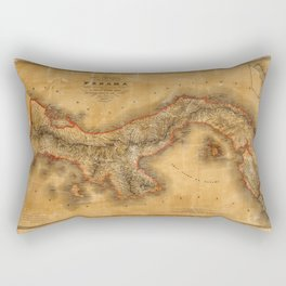 Map of Panama 1864 Rectangular Pillow