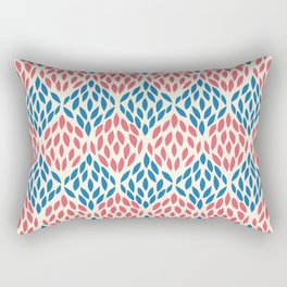 Organic pattern red and blue. Rectangular Pillow