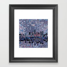austin texas city skyline Framed Art Print