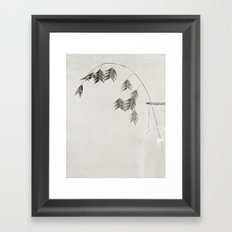 winter oat grass Framed Art Print