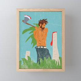 Lumberjack Blues Framed Mini Art Print